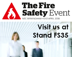 Klaxon exhibiting at Fire Safety Event